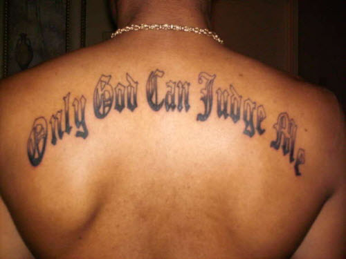Бог мне судья на латыни фото тату - 2