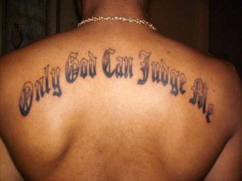 Бог мне судья на латыни фото тату - 4