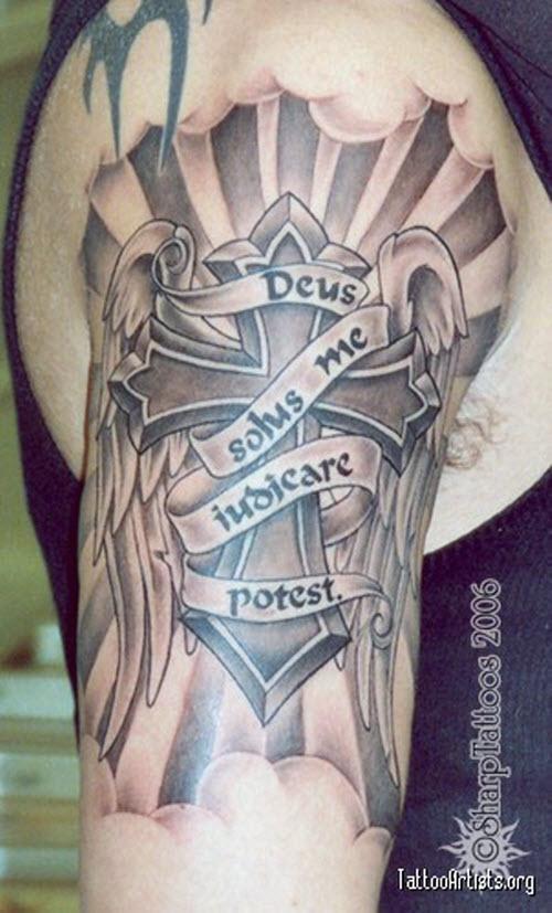 Бог мне судья на латыни фото тату - 8
