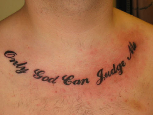 Бог мне судья на латыни фото тату - 9