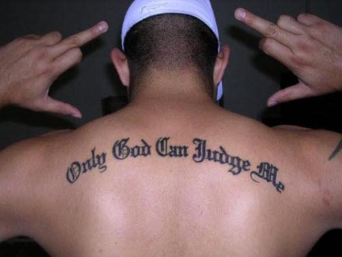 Бог всегда со мной на латыни тату фото - 8
