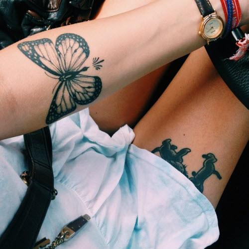 Что означает тату на ноге фото - 1