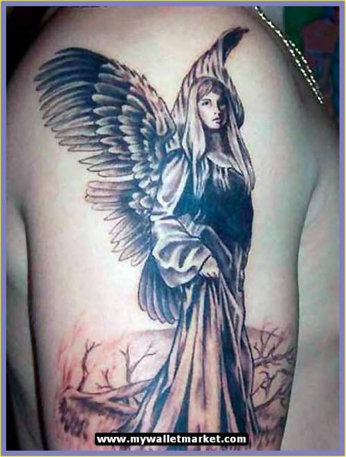 Фото тату ангела хранителя на руке