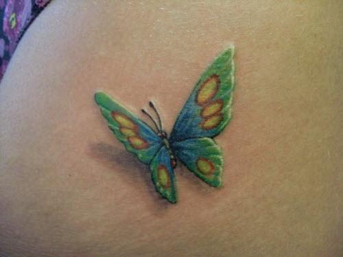 Фото тату бабочка на ягодицах - 9