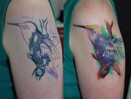Фото тату белой колибри - 2