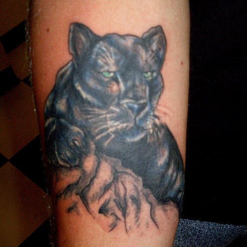Фото тату черной пантеры