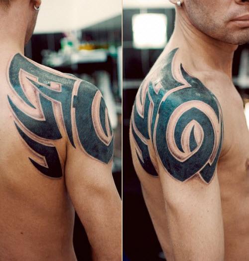 Фото тату для мужчин на плече - 2