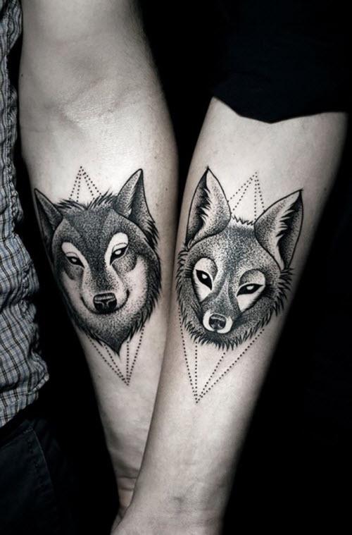 Фото тату для пар волки - 2