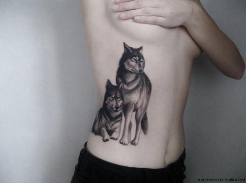 Фото тату для пар волки - 3