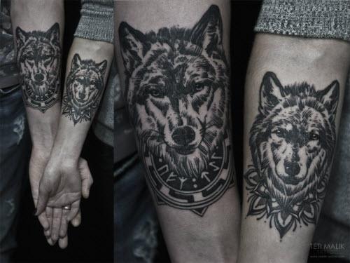 Фото тату для пар волки - 4