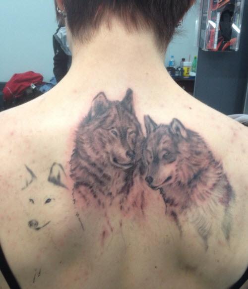 Фото тату для пар волки - 6