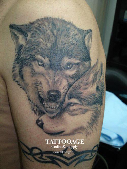 Фото тату для пар волки - 8