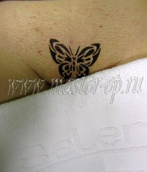 Фото тату хной бабочки - 1