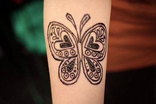 Фото тату хной бабочки - 8