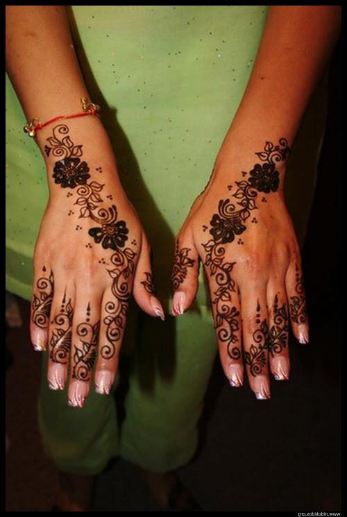 Татуировки хной женские