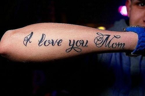 Фото тату любви достойна только мама на английском - 0