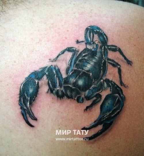 Фото тату на бедро скорпион - 3