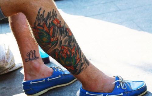 Фото тату на ноге для парней - 6