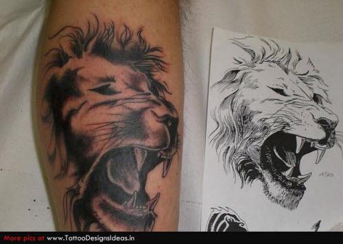 Фото тату на руке мужские льва - 3