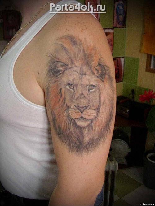 Фото тату на руке мужские льва - 7