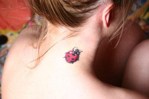 Фото тату на шее для девочек - 1