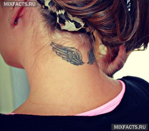 Фото тату на шее для девушке - 3