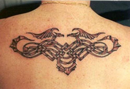 Фото тату на спину кельтские узоры - 1