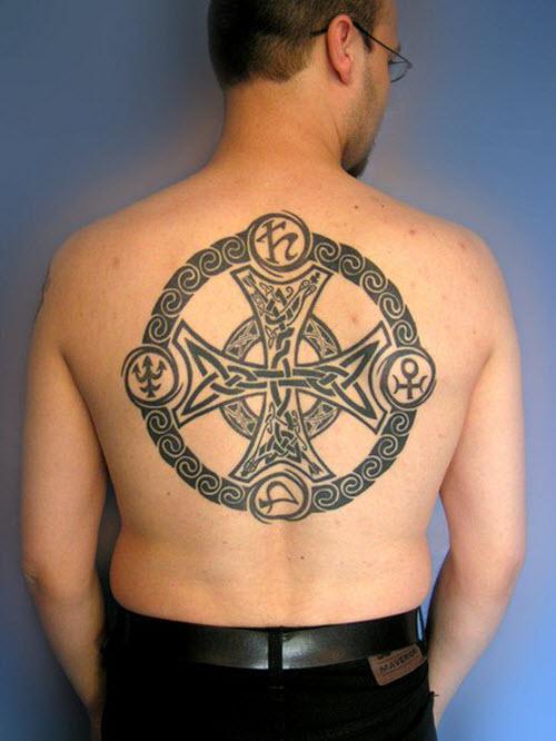 Фото тату на спину кельтские узоры - 4