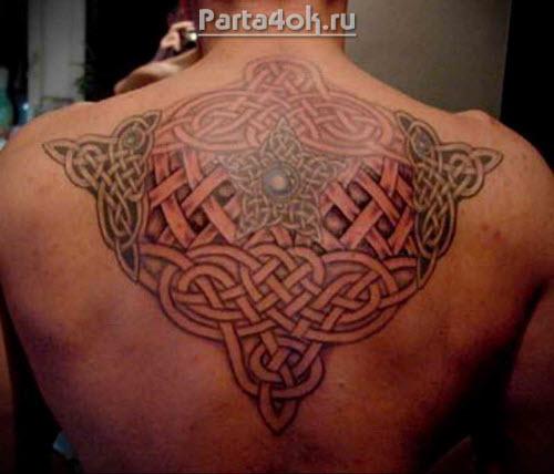 Фото тату на спину кельтские узоры - 9