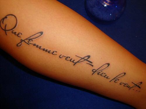 Фото тату надписи на предплечье женские - 6