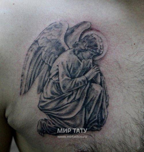 Фото тату с ангелами на груди - 7
