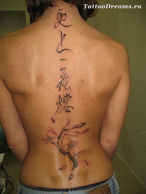 Фото тату с надписями на спине - 7