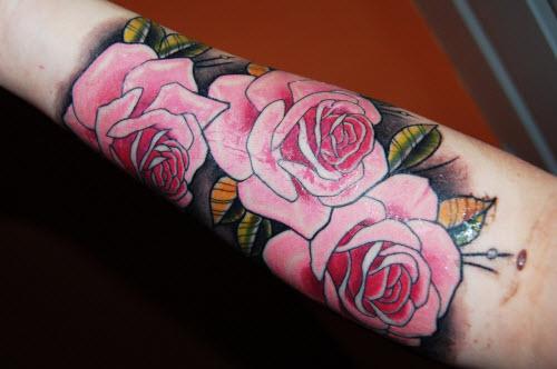 Фото тату с розой на руке - 9