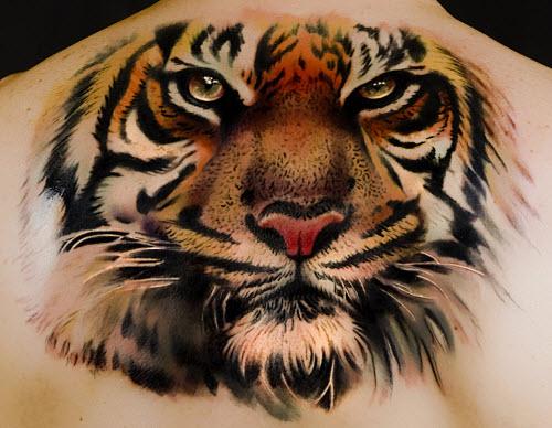 Фото тату с тигром на спине - 5