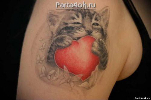 Фото тату сердца на плече - 6