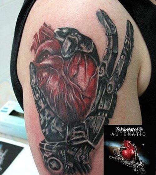 Фото тату сердца на плече - 8