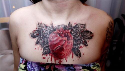 Фото тату сердца под сердцем - 4