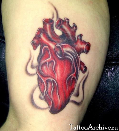 Фото тату сердца под сердцем - 5