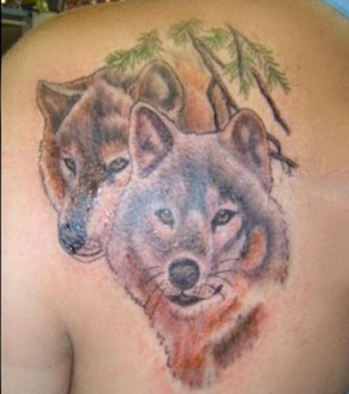 Фото тату волка на спине мужские - 6