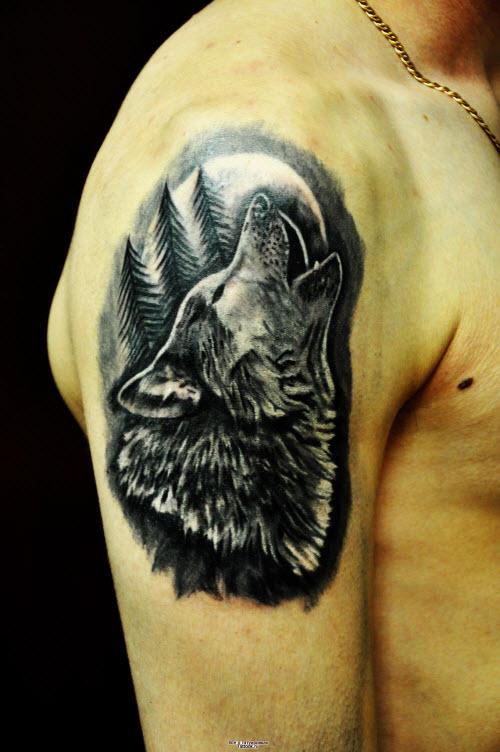 Фото волка в лесу для тату - 3