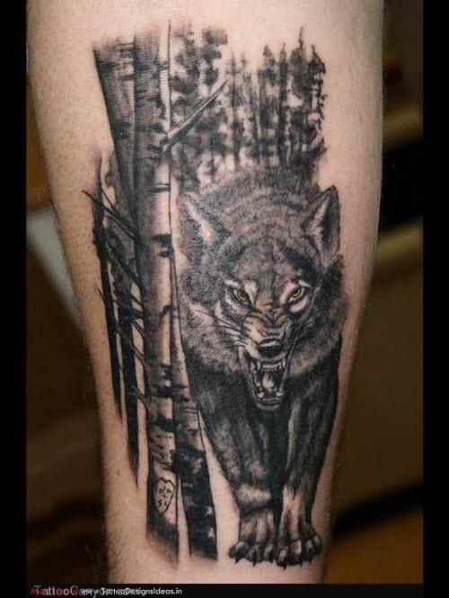 Фото волка в лесу для тату - 6