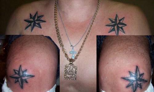 Фото звезды на коленях тату что значит - 5