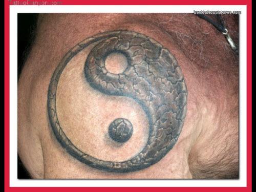 Инь янь тату фото на плече - 6