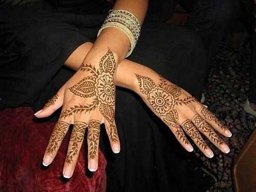 Индийское тату хной на руке фото - 2