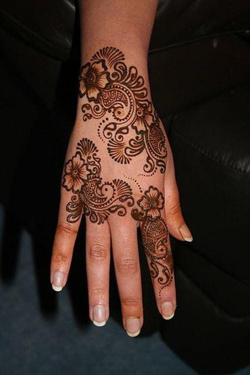 Индийское тату хной на руке фото - 4