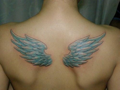 Женские тату на спине крылья фото - 5
