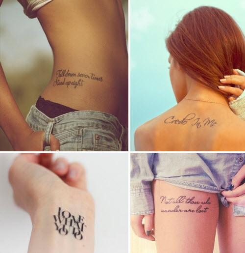 Какую надпись можно сделать тату фото - 3