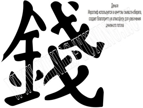 Китайский иероглиф деньги тату фото - 0