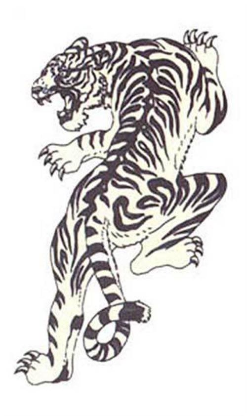 Крадущийся тигр тату фото - 2