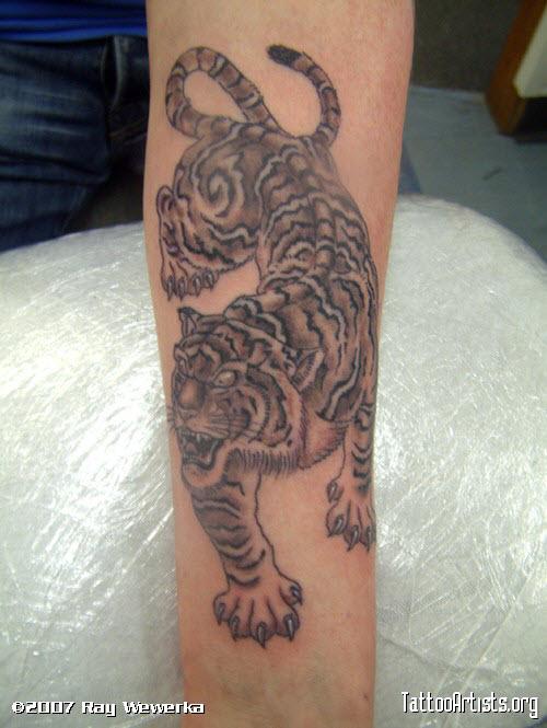 Крадущийся тигр тату фото - 6